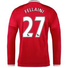Manchester United Jersey 2015/16 Home LS Soccer Shirt #27 Fellaini