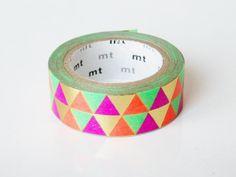mt Washi Masking Tape - Metallic Triangles - Limited Edition Plus Gold Washi Tape, Washi Tapes, Making Tape, Triangle Love, Triangle Pattern, Triangles, Scotch, Tapas, Planner 2018