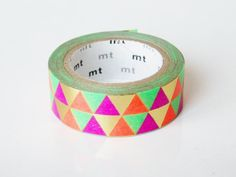 mt Washi Masking Tape - Metallic Triangles - Limited Edition. $13,00, via Etsy.