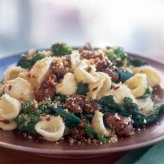 Orecchiette with Broccoli Rabe and Sausage One of my favorite meals to make or eat out at a restaurant. Orecchiette Pasta with Broccoli Rabe and Sausage. Sausage Recipes, Pasta Recipes, Dinner Recipes, Cooking Recipes, Dinner Ideas, Skillet Recipes, Healthy Recipes, Noodle Recipes, Cooking Tools