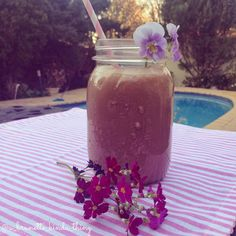 Healthy Choc Nut Protein Smoothie. To find out more - click the pic!