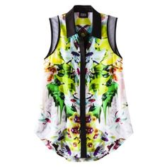 Love this @prabalgurung for @Target sleeveless printed blouse $26, get it here: http://rstyle.me/~iiLE