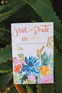 watercolour save the dates
