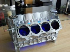 V8 Engine Block Coffee Tables by EngineHacker on Etsy, $900.00 --- This is table they have on Top Gear that I've been drooling over. Maybe get, maybe make?