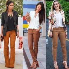 Calça caramelo outfit ideas модные образы и одежда. Camel Pants Outfit, Jeggings Outfit, Beige Outfit, Cool Outfits, Summer Outfits, Casual Outfits, Fashion Outfits, Colored Pants Outfits, Moda Fashion