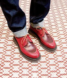 Lucy from the team in her red Tawny brogues today ❤ ️  #Plumostudio #Plumomusthave