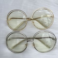 Large Round Wired Sunglasses·Clear Lens