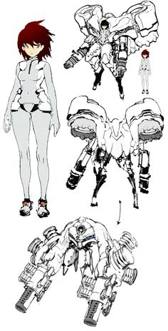 """𝐑𝐕 on Twitter: """"Another old concept drafts.… """" Character Design Animation, Female Character Design, Character Design Inspiration, Character Concept, Character Art, Drawing Reference Poses, Art Reference, Arte Robot, Robot Concept Art"""