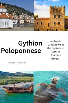 An authentic in once the main harbor of It's surrounded by beautiful beaches, and is the perfect base for trips to and the Deep Mani. Sparta Greece, Greek Buildings, Places To Travel, Travel Destinations, Greek Town, Ancient Greek City, Mount Olympus, Thessaloniki, Travel List