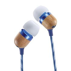 House of Marley Smile Jamaica EM-JE041-DN In-Ear Headphones (Blue) with Mic