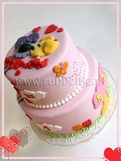 Lieve woezel en pip meisjes verjaardag taart. Birthday cake