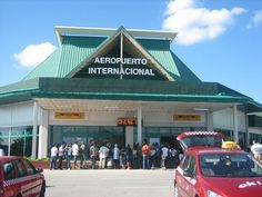 Holguin Airport. So small- be sure to get VIP lounge- only place with air conditioning!