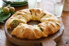 Try a new take on broccoli casserole this Thanksgiving with Easy Baked Cheese & Vegetable Twist. This crescent roll ring recipe is easy for any day.