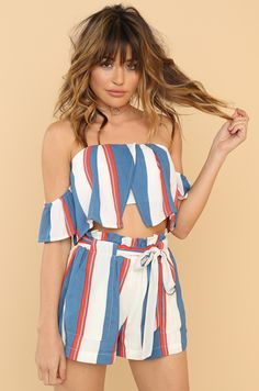 Resort Life Co-ord Set - Blue Co Ord Sets, Fashion Heels, Fashion Forward, Rompers, Clothes For Women, Blue, Dresses, Style, In Trend