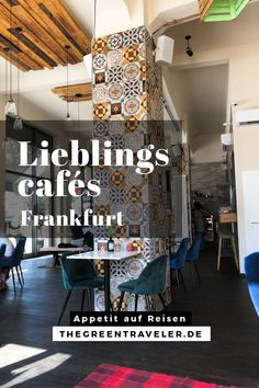 Lieblingscafés in Frankfurt am Main — The Green Traveler Beautiful Places To Visit, Places To See, Vegan Cafe, Travel Companies, Hotels, Travel Destinations, Things To Do, Cool Designs