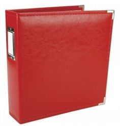 ALBUM FAUX LEATHER 3 RING BINDER RED 8.5x11\