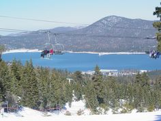Big Bear Lake, CA-not the Hollywood California=the fish and swim in summer CA and ski and snowboard in winter CA
