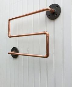 Copper Pipe Towel Rack, Industrial Towel Bar, Modern Industrial Steampunk.