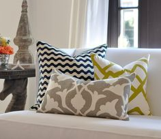 mixed patterns for throw pillows, would just need to get fabric.  Maybe in purple and teal tones?