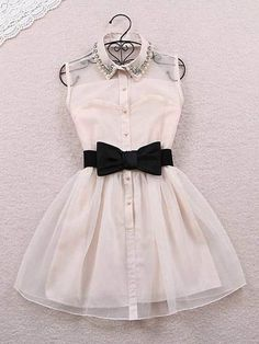 Cheap office dress attire, Buy Quality office christmas party dress directly from China dress lilac Suppliers: Summer Cute Office Dress With Bow Belt New 2016 Lapel Gauze Silk Elegant Women Tutu Dresses White Black Vestidos Femininos Women's Summer Fashion, Cute Fashion, Fashion Outfits, Dress Fashion, Womens Fashion, Classy Teen Fashion, Girl Fashion, Fashion Vest, Fashion Black