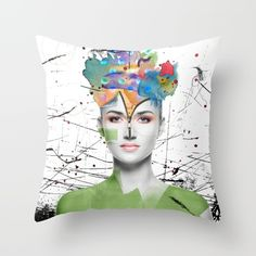 'Colorist' throw pillows with original art by Nola Lee Kelsey