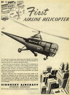 First Airline Helicopter - Sikorsky S-51 advert