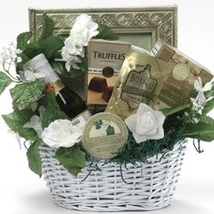 Art of Appreciation Gift Baskets Best Wishes To You Wedding Gourmet Food Gift Basket, Small - mygourmetgifts.co...