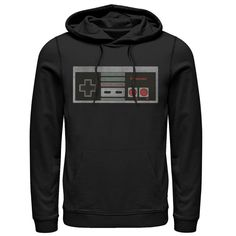 Retro Nes, Nintendo Controller, Nintendo Systems, Black Media, Vintage Style Outfits, Hoodies, Sweatshirts, Black Hoodie, Fitness Fashion