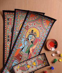 The Madhubani Corner by Chitrataru Madhubani paintings in vegetable colors on handmade paper Online at Jaypore.com