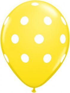Yellow Polka Dotted Balloons
