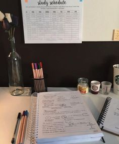 Study Desk, Study Space, Study Areas, Study Schedule, Study Organization, University Organization, School Supplies Organization, Study Methods, Study Techniques