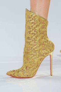 Christian Louboutin for Alexandre Vauthier Haute Couture f/w 2012 Lace Booties, Bootie Boots, Shoe Boots, Lace Shoes, Ankle Boots, Shoes Heels, Alexandre Vauthier, Crazy Shoes, Me Too Shoes