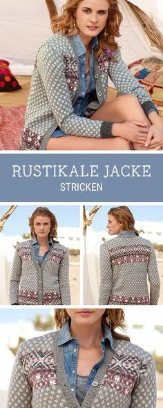 Strickanleitung für einen Cardigan im rustikalen Stil, Oktoberfest Outfit / knitting pattern for a cardigan via DaWanda.com