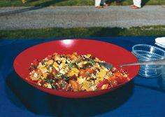 Heirloom Tomato and Grilled-Corn Salad with Basil Vinaigrette - Bon Appétit