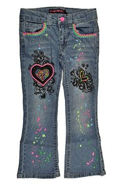 Christmas 2016 gift for our beautiful granddaughter.  Super Cute Denim Jeans that light up Size 6