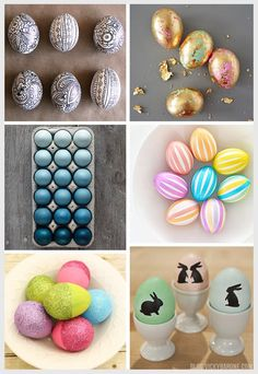Easter Egg Dyeing and Decorating Ideas | Modern Easter Eggs | Vicky Barone