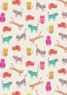 Cats by Dawn Bishop. Novelties is a collection of fun, one-off prints from Dashwood Studio. Click to view the full collection