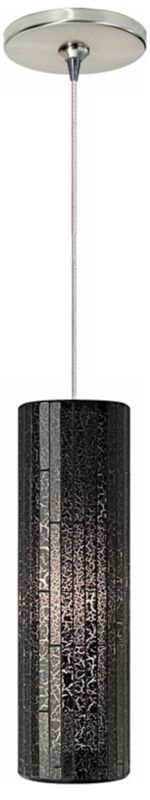 Peyton Brown Glass with Satin Nickel Finish Ceiling Pendant -