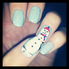 Frosty will never melt if he's on your nails.