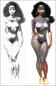 Frank Frazetta Art - Drawing and Final Painting