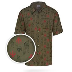 This Boba Fett Hawaiian Shirt is perfect for lounging out on the decks of the Khetanna and basking in the warmth of Tatooine's twin suns.