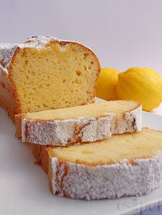 a pinch: lemon-cream cake Lemon Cream Cake, Sour Cream Cake, Sweet Cookies, Cake Cookies, Good Food, Yummy Food, Just Eat It, Hungarian Recipes, Sweet Bread