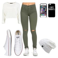 """""""I hate Mondays"""" by urbanlengend on Polyvore featuring Converse"""