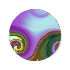 waves ~ art for Multiple Sclerosis MS Stickers by ohgreeting