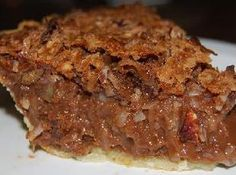German Chocolate Pie - This recipe came from an Amish woman who sold baked goods at a local Farmer's Market.