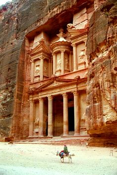 Petra, ancient capital city of Idumea later capital of the Nabatean Kingdom. Is located on the territory of the Hashemite Kingdom Of Jordan.