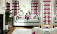 A bold print in curtains to be the feature of a room