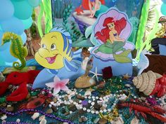 Little Mermaid party table #mermaid #party