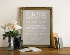 Hey, I found this really awesome Etsy listing at https://www.etsy.com/listing/196497600/50th-anniversary-gift-personalised