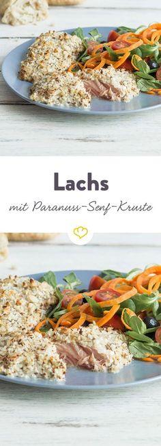 Das Rezept für leckeren Lachs mit Paranuss-Senf-Kruste und viele weitere Fischrezepte findest du im Springlane Magazin.